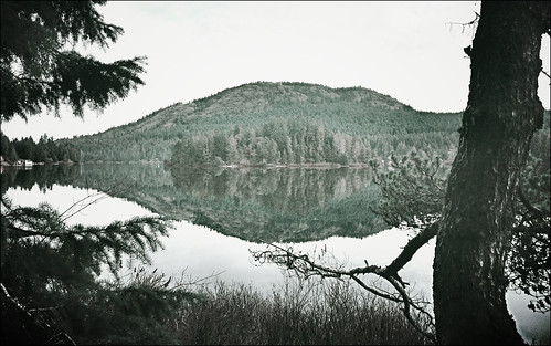 lake canada reflection bc vancouverisland shawniganlake