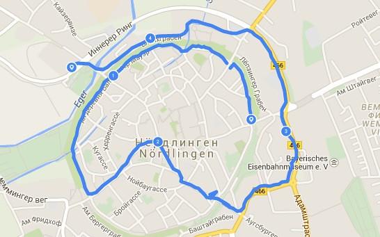 Nerdlingen - our route