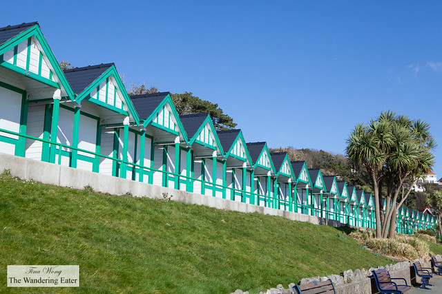 Langland Bay beach huts