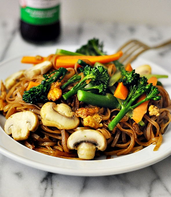 ... broccolini pad see ew recipes dishmaps tofu and broccolini pad see ew