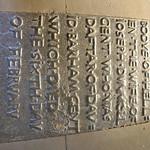 An iron tomb slab at Wadhurst