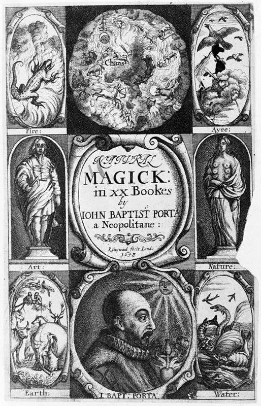 Frontispiece of an English translation of Natural Magick
