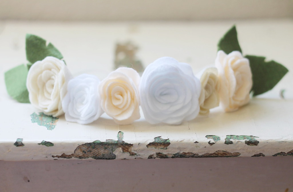 white felt floral crown