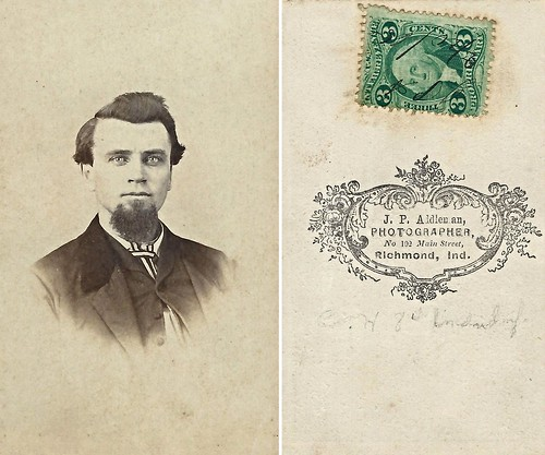 William Snyder, Civil War Vet (CDV by J.P. Addleman, 102 Main Street, Richmond, Indiana)