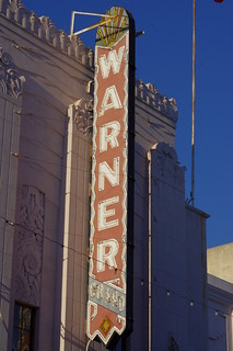 Warner Grand Theatre neon sign