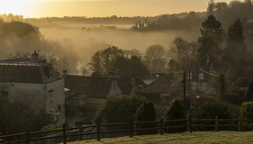 The Avon valley at daybreak