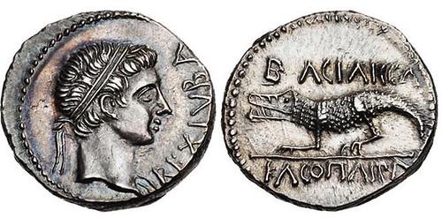 Silver denarius of King Juba II