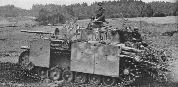 Comandante alemán del tanque Pz Kpfw.III Ausf.M