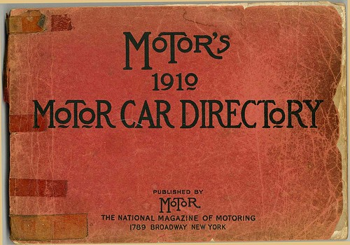 1910. MOTOR'S. MoToR Car Directory