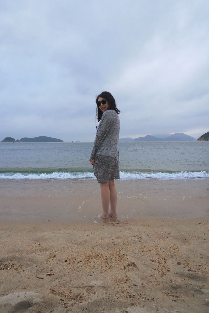 Daisybutter - Hong Kong Lifestyle and Fashion Blog: OOTD, what i wore, british fashion blogger, maxi cardigans, pineapple print shorts, repulse bay beach