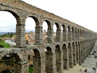 Bild av Acueducto de Segovia nära Segovia. españa rome spain roman aqueduct romano segovia espagne romanempire castilla castillayleón provinciadesegovia