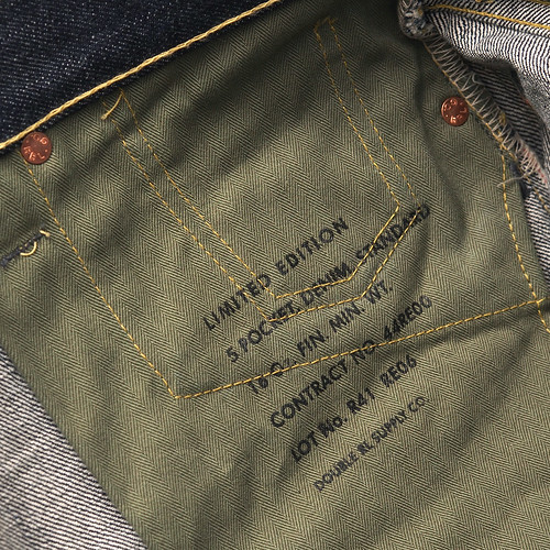 RRL / Limited Edition Straight Leg Rigid Denim