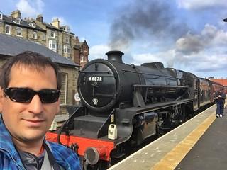 Sele en la estación de Whitby (Yorkshire)