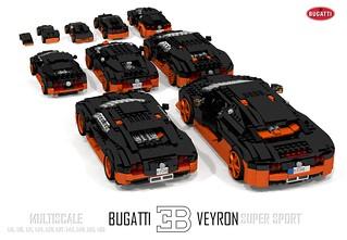 Bugatti Veyron Super Sport (Multiscale: 1:15, 1:18, 1:21, 1:24, 1:28, 1:37, 1:42, 1:48, 1:65, 1:85)