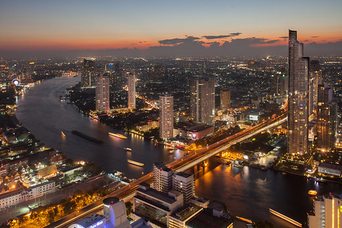 urban tower digital landscape thailand cityscape state bangkok hdr thailande blending lebua