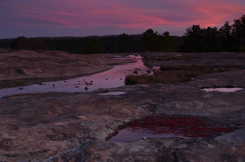 water pool rock clouds sunrise puddle dawn granite monadnock arabiamountain diamorphasmallii arabiamountainnationalheritagearea