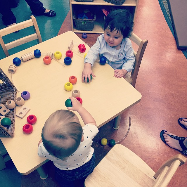 Today we enrolled Archer in a preschool to help him socialize and get more sensory experiences - he already made a friend and is sharing during the open house tour! by bartlewife