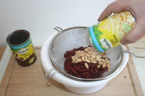 26 - Bohnen abgießen / Drain beans