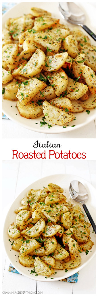 Italian Roasted Garlic Parmesan Potatoes
