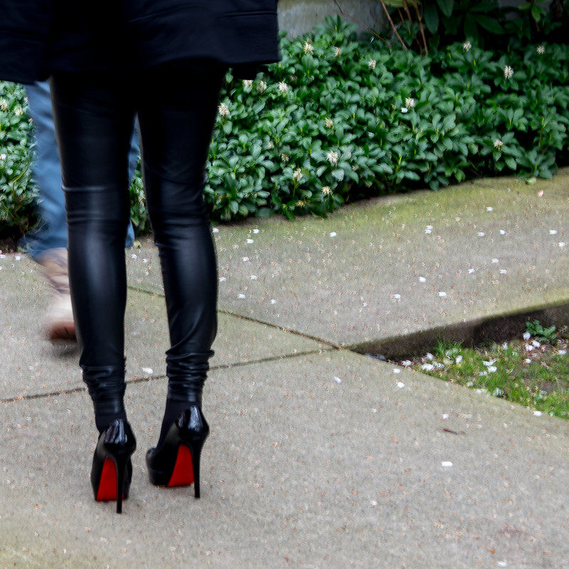 Red soles of Louboutin