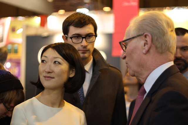 Fleur Pellerin, Alain Kouck (Editis) - Salon du Livre de Paris 2015