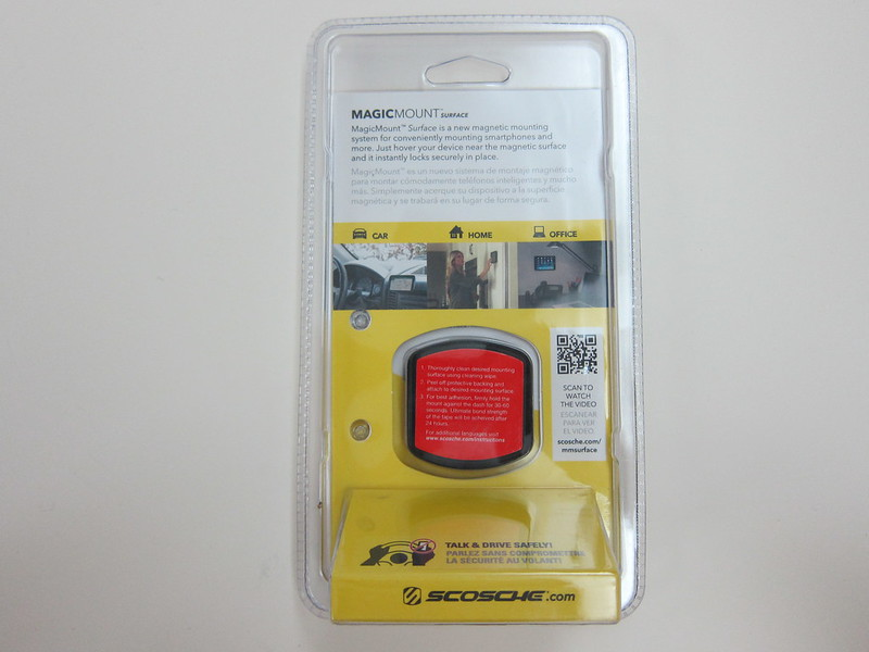 Scosche MagicMount Surface- Packaging Back