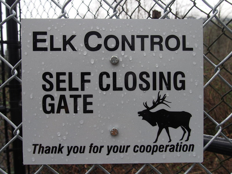 Snoqualmie Valley Trail Gate Sign: If it's self-closing, why was it open?
