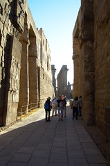 Walking Into Great Court at Luxor Temple