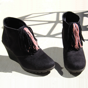 how to make fringed boots