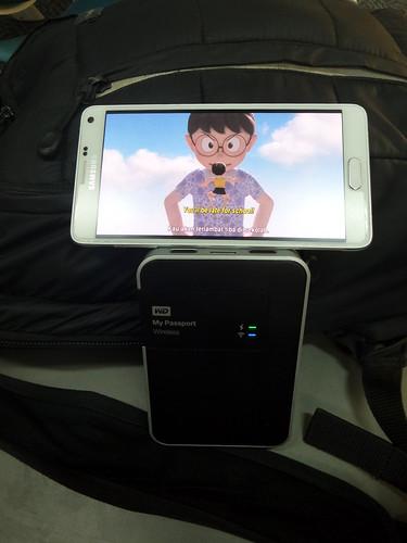 Streaming หนังดูจาก WD My Passport Wireless ได้เลย