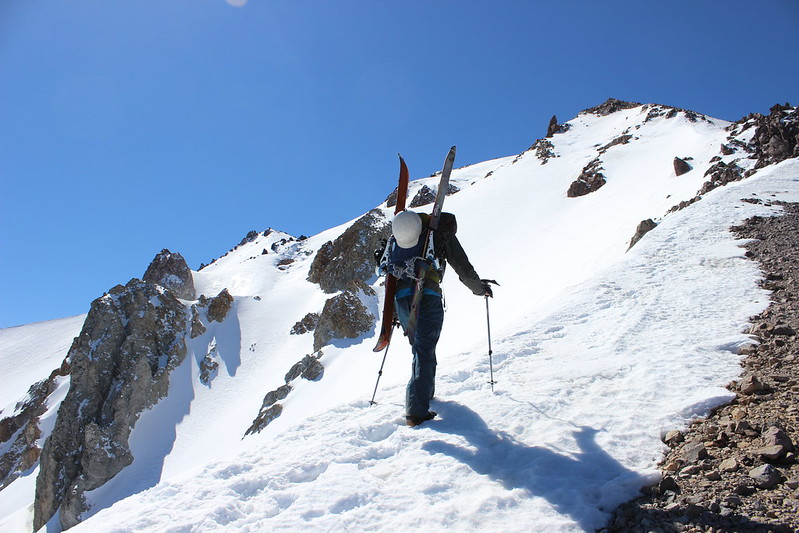 Mike climbing Lassen Peak