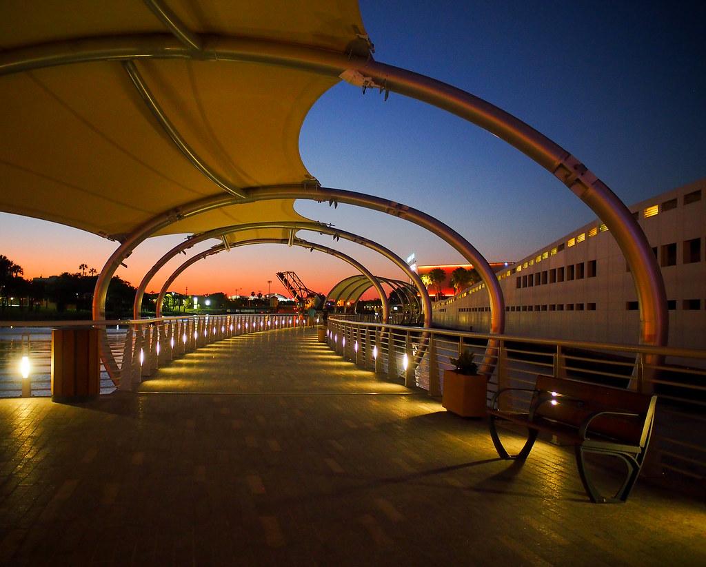 Tampa Riverwalk bench