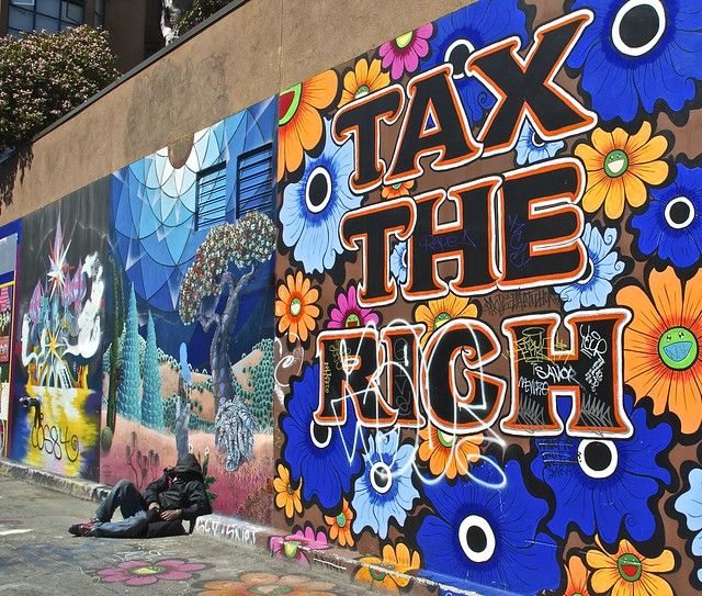 tax the rich mural