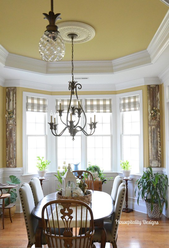Tole Sconces on Antique Shutters-Housepitality Designs