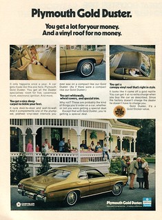 1973 Plymouth Gold Duster Advertisement Newsweek February 5 1973
