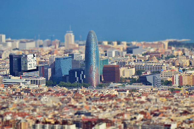 Agbar Tower_ Barcelona tilt and shift