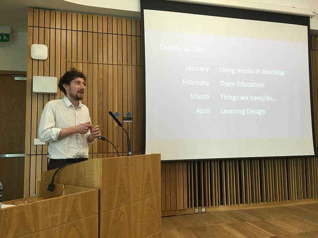 Ross Ward talks about recent elearning@ed/LTW Monthly MeetUps, at eLearning@ed 2016