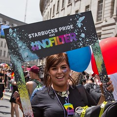 Starbucks at London LGBT Pride Parade, 25 June 2016