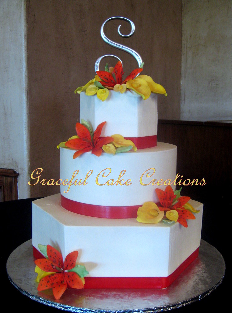 red orange and yellow wedding cakes graceful cake creations s most recent flickr photos picssr 19136