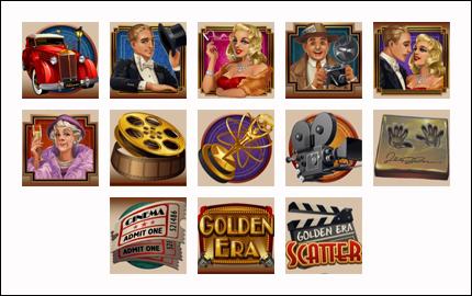 free Golden Era slot game symbols
