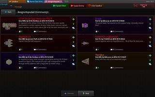 Algunos de los diseños subidos por los jugadores y desarrolladores