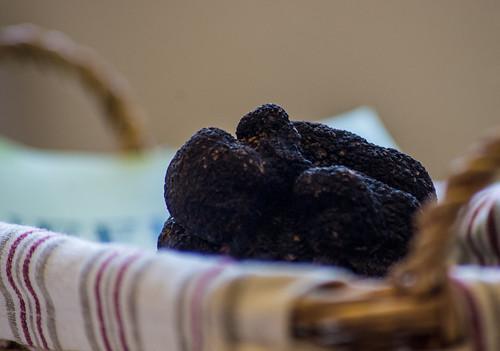 Les truffes du Périgord, photo du marché aux truffes de Saint Alvère