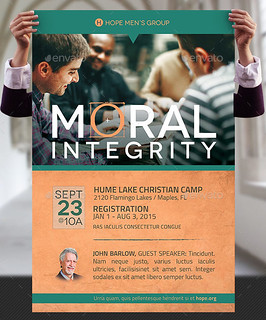 Moral Integrity Church Flyer and Poster Template
