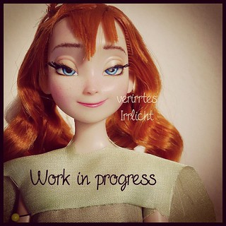 so, what do you think, which #anna will she become? (; #disney #frozen #princessanna #doll #ooak #customdoll #faceup #ooakdoll #repaint #dollrepaint #disneyfrozen #frozendoll #arendelle #snowqueen #sister