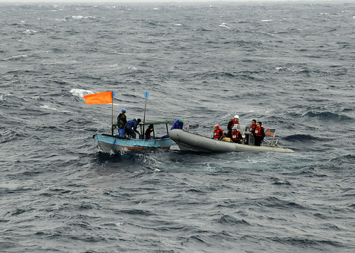 USS Blue Ridge Rescues Fishermen in Philippine Sea