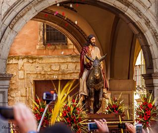 Domingo-de-Ramos,-Cuenca,-Jesús entrando en Jerusalén (La borriquilla)