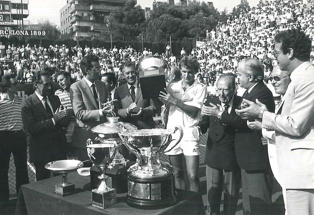 1984 Entrega trofeo Wilander