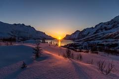 Sunset in Ersfjordbotn