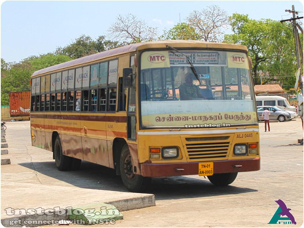 TN-01AN-0903 ( AL J 0445 ) of Alandur Depot Route M18 Tambaram - Guduvanchery via Perungulathur, Zoo, Urappakkam.