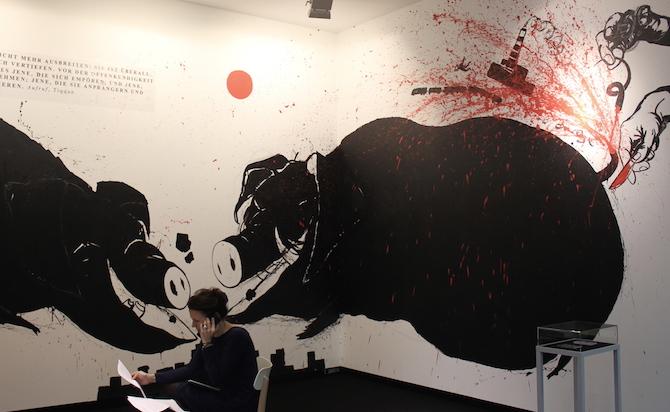 Volodymyr Kuznetsov at booth Art Collection Telekom